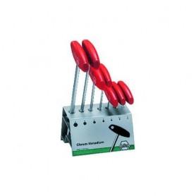 WIHA Sechskant-Stiftschlüsselsatz 7-tlg. 2 - 8 mm, mit T-Griff, im Blechständer