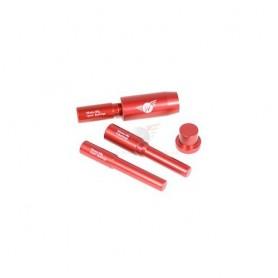 """WHEELS """"Bushing Tool"""" zum Wechseln von Dämpferbuchsen, Set m. Tool + 3 Stiften, (Lieferung ohne Buchsen)"""