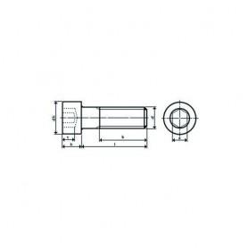 Innensechskant-Schrauben, Edelstahl A2 M4 x 12, DIN 912, BE  50 Stck