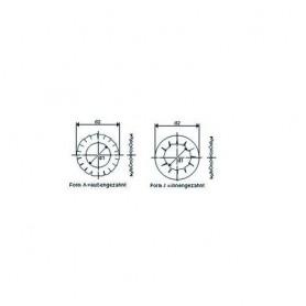 Fächerscheiben, Niro, DIN 6798 D innen  5.3 mm, BE100 (1000) Stck.