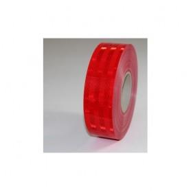 """3M """"Diamond Grade"""" Reflex-Klebefolie, ROT, 50mm breit, ECE 104 Norm, BE1m flexibles Material, hohe Klebkraft, wetterfest (auch i"""