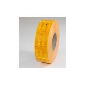"""3M """"Diamond Grade"""" Reflex-Klebefolie, GELB, 50mm breit, ECE 104 Norm, BE1m flexibles Material, hohe Klebkraft, wetterfest (auch"""