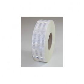 """3M """"Diamond Grade"""" Reflex-Klebefolie, WEISS, 50mm breit, ECE 104 Norm, BE1m flexibles Material, hohe Klebkraft, wetterfest (auch"""