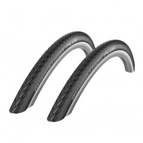 "2x Schwalbe Marathon Plus wheel chair tyre 24"" 26"" Flat-less wire black"