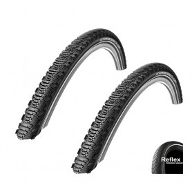 2x Schwalbe tire CX Comp 20 24 26 28 inch K-Guard with / without reflecting black