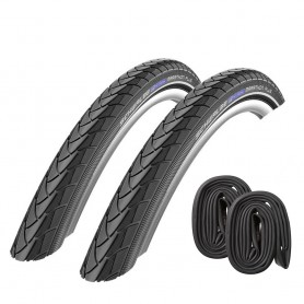 2x Schwalbe Marathon Plus Bike tire 16 20 24 26 27.5 28 inch flatless