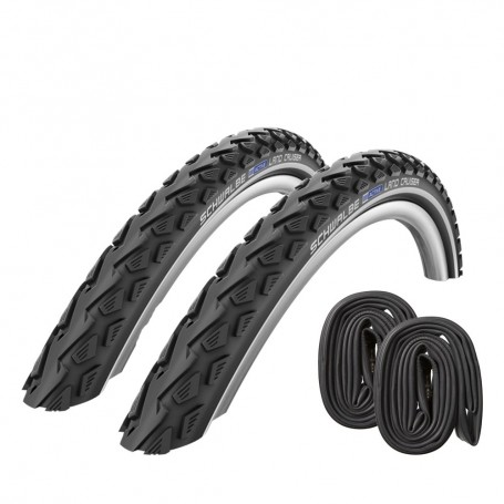 2x Schwalbe Land Cruiser Bike tire 24 26 28 inch with / without tube