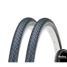 2x Kenda EUROTREK K-197 Bike tire 26 28 inch wire black reflecting AV SV DV