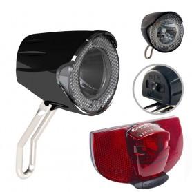Fahrrad LED Lampen Licht Set Union Scheinwerfer + AXA Rücklicht Standlicht