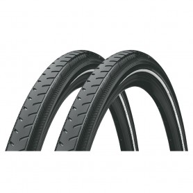 2x Continental Classic RIDE bicycle tyre 37-622 E-25 wired reflective black