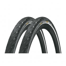 2x Continental CONTACT Plus City bicycle tyre 42-622 CONTACT E-50 wired reflective black