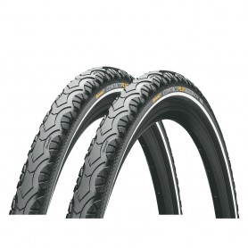 2x Continental CONTACT Plus Travel bicycle tyre 42-622 E-25 wired reflective black