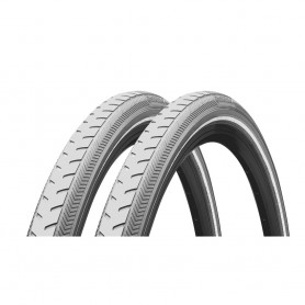 2x Continental Classic RIDE bicycle tyre 42-622 E-25 wired reflective grey