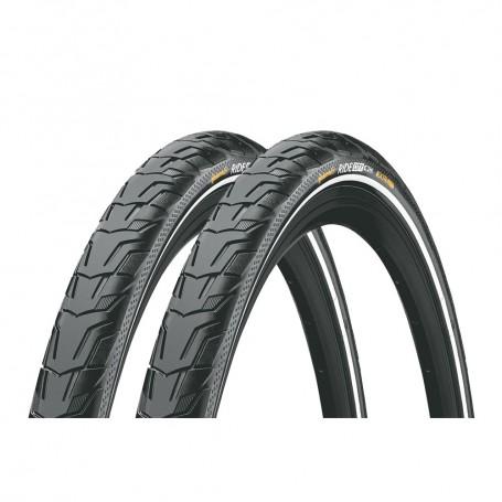 2x Continental Reifen RIDE 47-622 28 Zoll Draht schwarz Reflex