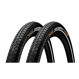 2x Continental RIDE Cruiser bicycle tyre 55-559 E-25 wired reflective black