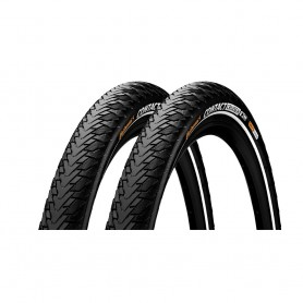 2x Continental CONTACT Cruiser bicycle tyre 55-622 E-25 wired reflective black