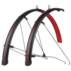 SKS Bluemels STINGRAY 'Blazing Red' 28 inch Mudguard set black red