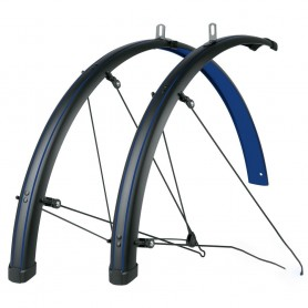 SKS Bluemels STINGRAY 'Ocean Blue' 28 inch Mudguard set black blue