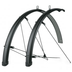 SKS Bluemels STINGRAY 'Grey' 28 inch Mudguard set black grey