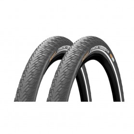 2x Continental CONTACT Cruiser bicycle tyre 55-622 E-25 wired reflective grey