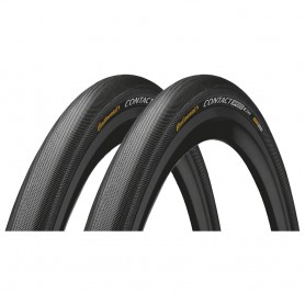 2x Continental CONTACT Speed bicycle tyre 28-406 E-25 wired reflective black