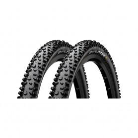 "2x Continental Explorer Fahrrad Reifen | 26"" | 26 x 2.1 | 54-559 | Draht, schwarz-skin"