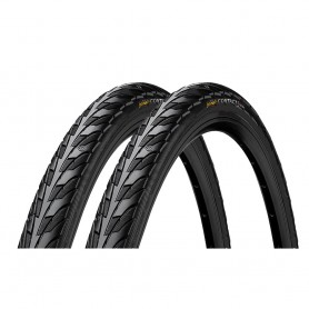 2x Continental CONTACT bicycle tyre 28-622 E-25 wired black
