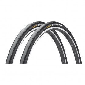 "2x Continental Fahrrad Reifen GrandPrix | 28"" | 28 x 1.10 | 28-622 | Draht, schwarz / schwarz skin"