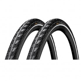 2x Continental CONTACT bicycle tyre 37-622 E-25 wired reflective black
