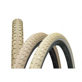 2x Continental RIDE Tour bicycle tyre 47-559 E-25 wired reflective creme