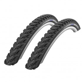 2x Schwalbe Marathon GT 365 bicycle tyre 40-622 DualGuard wired reflective black