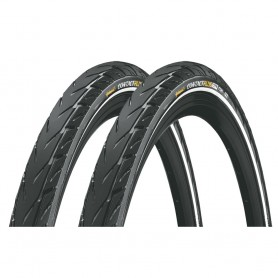 2x Continental E.Contact bicycle tyre 55-559 E-50 wired reflective black