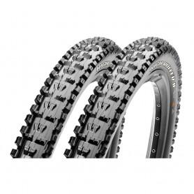 2x Maxxis tire HighRoller II 3C MaxxGrip 61-559 26 inch wire black