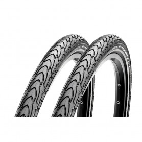 2x Maxxis tire Overdrive Excel 50-559 26 inch wire black reflecting Dual