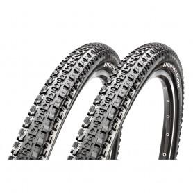 "2x Maxxis bicycle tyre CrossMark foldable 27.5x2.10"" 53-584 black"