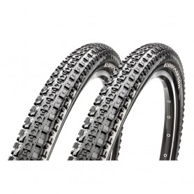 """2x Maxxis bicycle tyre CrossMark TLR foldable 27.5x2.25"""" 57-584 black"""