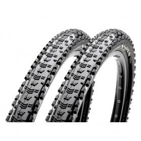 2x Maxxis tire Aspen TLR 52-584 foldable black EXO Dual
