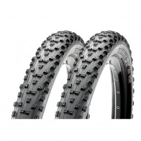2x Maxxis tire Forekaster TLR 56-584 foldable black EXO Dual