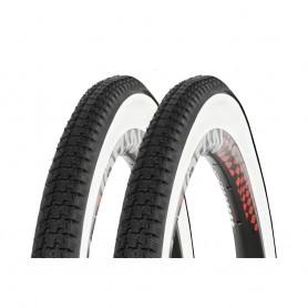 2x Kenda K-141 Fahrrad Reifen schwarz weiß Weißwand 40-635 I 28 x 1 1/2 Draht