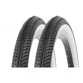 "2x Kenda K-912 bicycle tyre 20"" black white whitewall 47-406 I 20 x 1-75 wired"