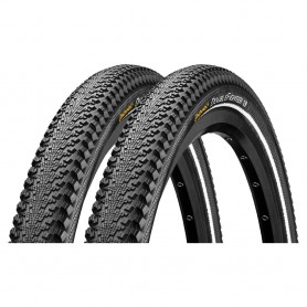 2x Continental 50-559 Double Fighter III bicycle tyre wired reflex black
