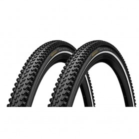 2x Continental 42-622 AT RIDE bicycle tyre wired reflex black-skin