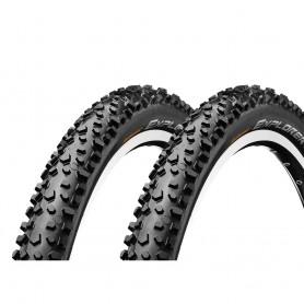 2x Continental Explorer Fahrrad Reifen 47-507 24 x 1,75 Draht schwarz MTB