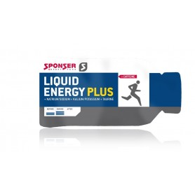 Sponser Liquid Energy Plus Gel 40 x 35g Sachets Aroma: neutral mit Koffein