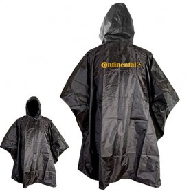 Continental disposable poncho unisize black