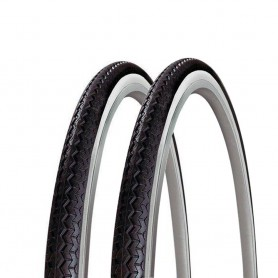 2x Michelin bicycle tyre World Tour wired 35-622 black white
