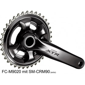 Shimano Crankset XTR FC-M9020, without chainring, 170 mm, black
