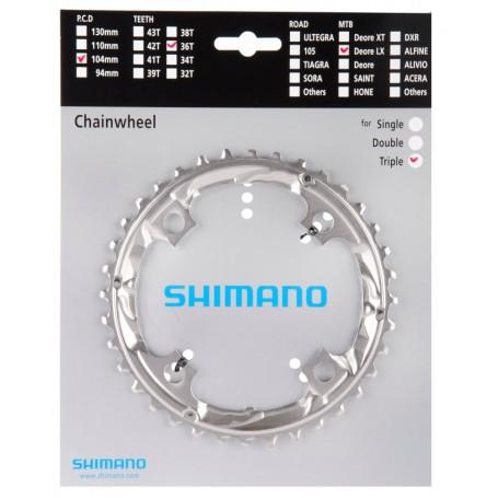SHIMANO Kettenblatt FC-RS500 36 Zähne LK 110 mm silber