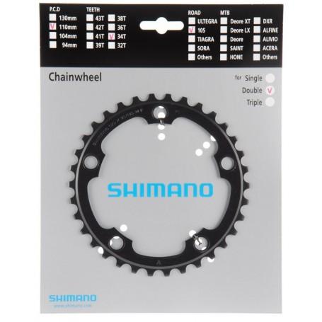 SHIMANO Kettenblatt ULTEGRA FC-R8000 36 Zähne LK 110 mm schwarz