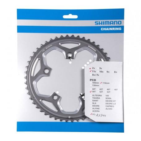 Shimano Chainring FC-RS500, 50 teeth, 110 mm, silver